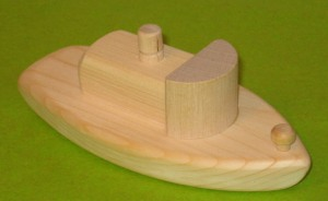 handmade wooden toy tugboat wood toys
